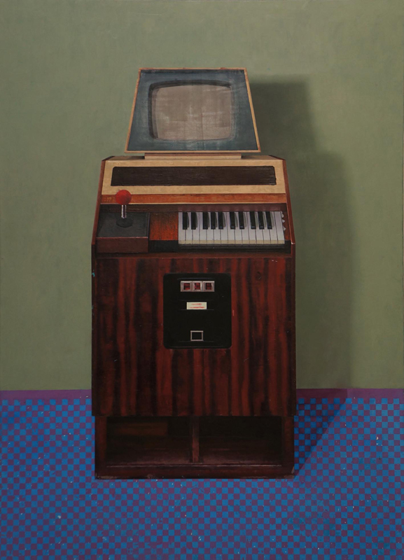 Arno Beck Oil painting music maschine