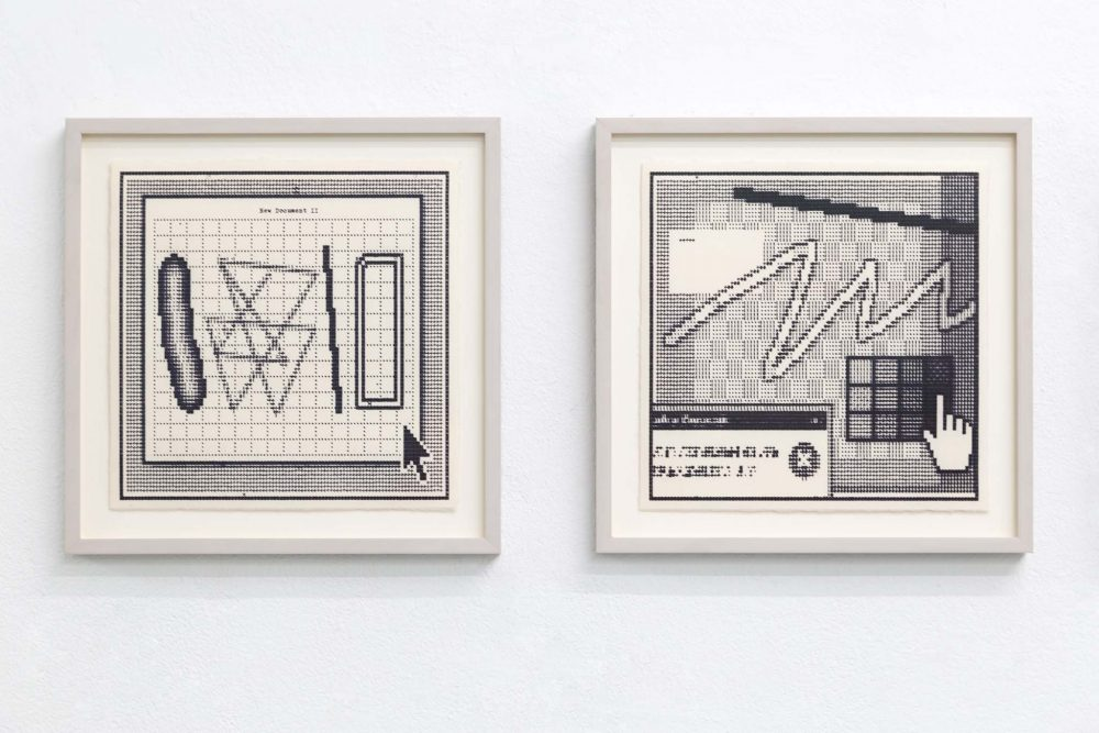 Arno Beck typewriter drawings