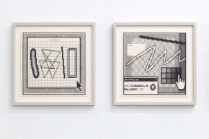 Arno Beck typewriter drawings