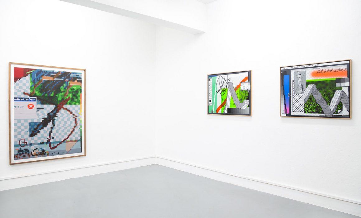 Arno Beck Woodprints paintings on wall