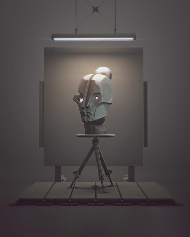 Matthias Danberg digital Sculptures print
