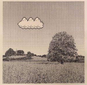 Arno Beck typewriter drawing Cloud Tree