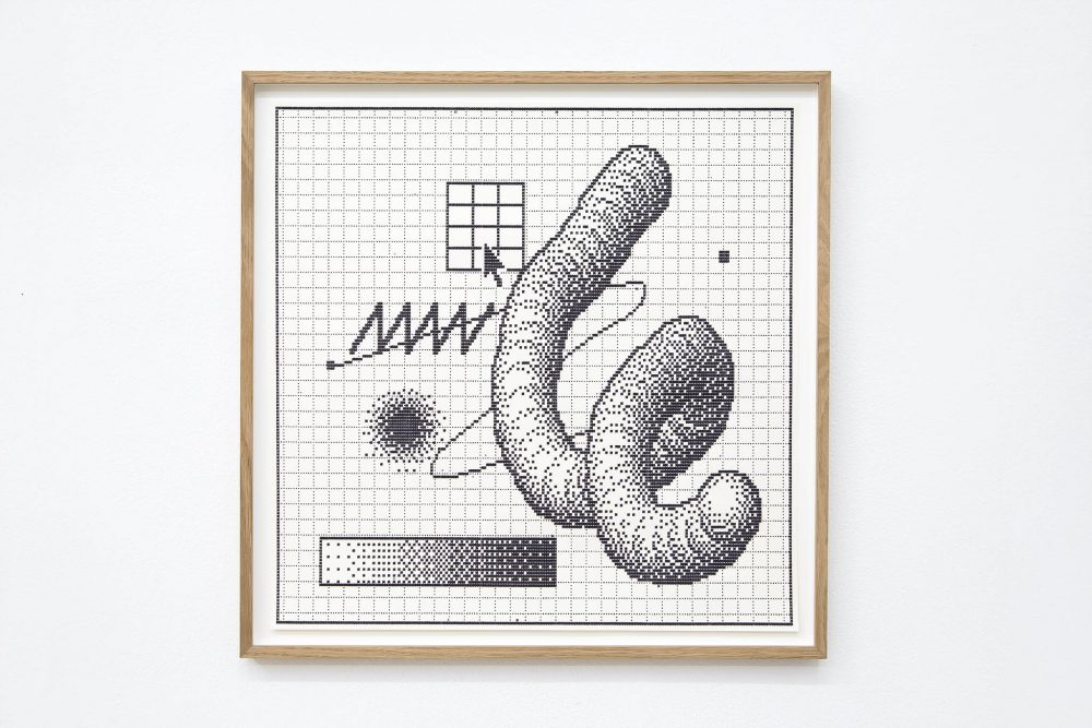 Arno Beck Typewriter drawing on paper