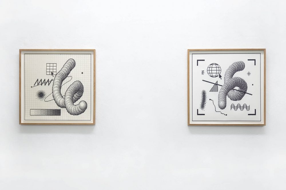 Arno Beck - typewriter drawing Super Mario landscapes - Falko Alexander gallery