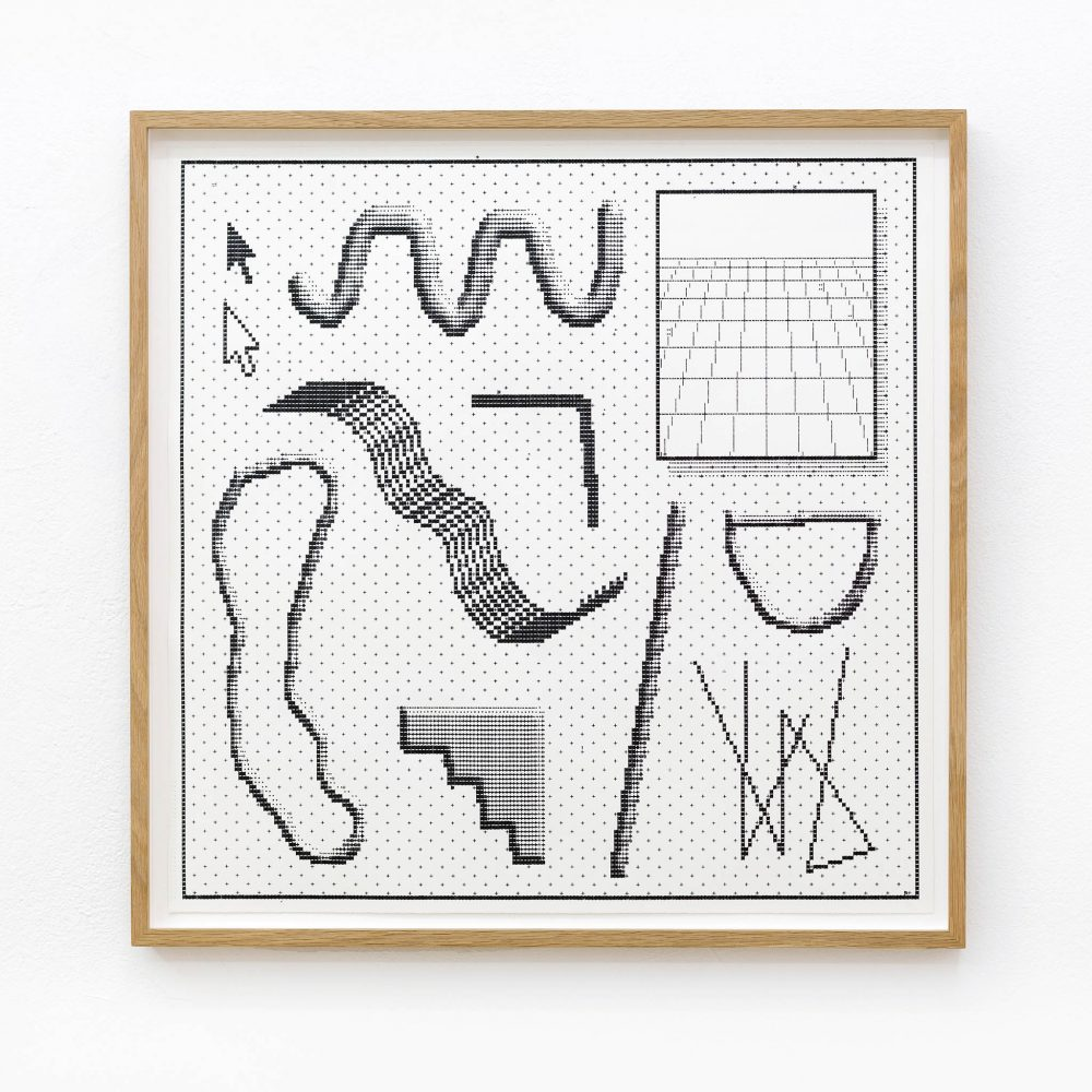 Arno Beck - typewriter drawing - Falko Alexander gallery