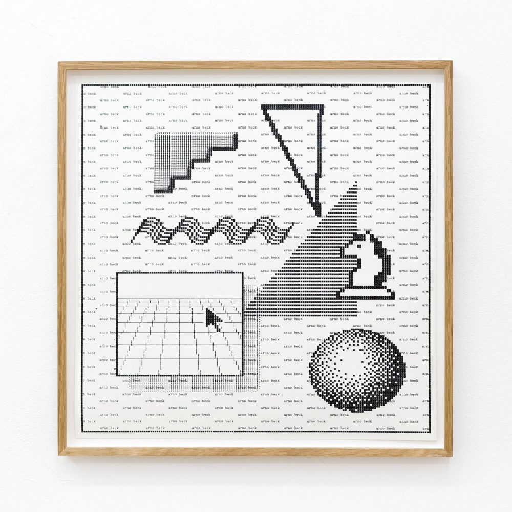 Arno Beck - typewriter drawing - Trojan - Falko Alexander gallery